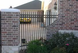 Residential Brick And Stone Fences Houston Tx Texas Fence