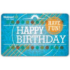 birthday walmart gift card walmart