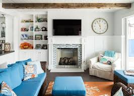 louvered living room cabinets cottage