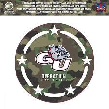 Gonzaga Bulldogs 24 X 24 Operation Hat Trick Coin Die Cut Vinyl Decal