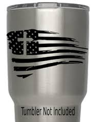 Usa Flag Torn With Cross Decal We Don T Sell Tumblers Cups Tumblers 3 5 X 3 8 Ebay