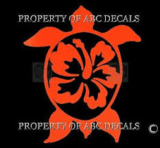 Vrs Hawaiian Hawaii Honu Turtle Sharp Hibiscus Flower Car Decal Vinyl 6 Sticker Ebay