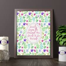 beauty begins watercolout quote print pretty floral decor for wall