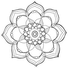 Kleurplaat Volwassenen Mandala Kaartje2go