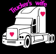 Truckers Wife Semi Driver Decal Sticker Vinyl Window Decals Comes Ready To Apply From Big Tees Printing Vinyl Window Decals Window Vinyl Window Decals