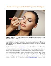 look gorgeous at a party makeup artist