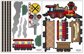 Train Wall Decals Railway Train Wall Stickers Boys Wall Stickers