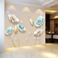Chinese Style Flower 3d Wallpaper Wall Stickers Living Room Bedroom Bathroom Home Decor Decoration Poster Cj191213 Skateboard Wall Decals Small Wall Stickers From Quan09 15 37 Dhgate Com