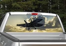 Fighter Jet Navy Rear Window Graphic Decal Miller Graphics