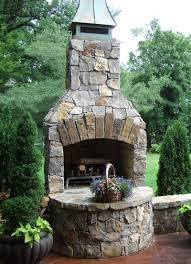 outdoor fireplace hedberg landscape