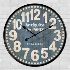 retro wall clock antiquite de paris 57
