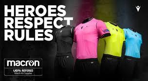 uefa referee match kit supplier