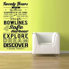 Wall Vinyl Decal Sticker Words Sign Quote Mark Twain Discover Dream Z1 Stickersforlife