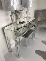 450 a mirrored 2 drawer console table