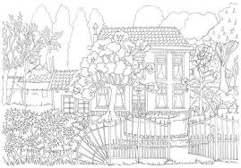 Kleurplaten Voor Volwassenen Huis Met Voortuin Kleurplaten