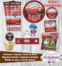 Invitacion Cumpleanos Cars Rayo Mcqueen Kit Imprimelo Tu