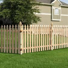 Unbranded 4 Ft X 8 Ft Pressure Treated Pine Spaced French Gothic Fence Panel 320036 The Home Depot
