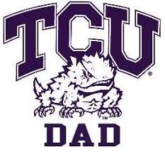 Amazon Com Texas Christian University Frogs Dad Clear Vinyl Decal Car Truck Sticker Tcu Kitchen Dining