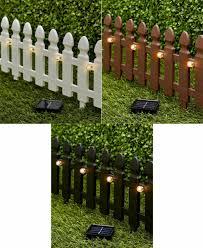 4 Pc Interlocking White Picket Fence Lawn Garden Border Stakes For Sale Online Ebay
