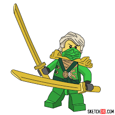 How to draw Lloyd Garmadon from NinjaGO - Step by step drawing ...