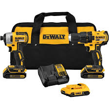 Dewalt 2 Tools 20 Volt Lithium Ion Cordless Combo Kit With Bonus Battery Home Hardware