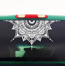 Mandala Car Decal Car Decal Mandala Sticker Half Circle Car Stickers Car Decals Moon Mandala
