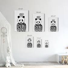 Keep Calm Panda White Kids Room Decor Nursery Wall Art Smile Art Design