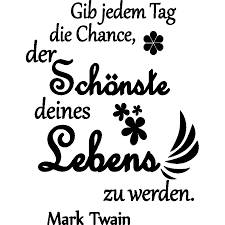 Wall Decal Gib Jedem Tag Die Chance Mark Twain Decoration Wall Decals Quote Wall Stickers German Ambiance Sticker