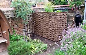 Woven Willow Hurdle Bin Screen Winterbourne Willows