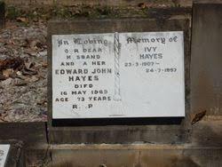 Ivy Hayes (1907-1997) - Find A Grave Memorial
