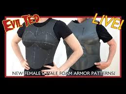 new female male foam armor patterns