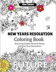 com new year s resolution coloring book inspiring quotes