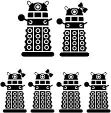 Amazon Com Dalek Robot Exterminate Family 6 Vinyl Sticker Car Decal 6 Black Automotive