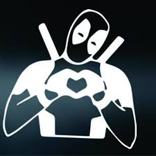 2020 Deadpool Love Funny Sticker For Car Auto Window Bumper Laptop Decal For Avengers Art Vinyl Decals From Xymy767 3 72 Dhgate Com