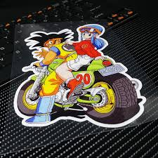 Collectibles Dragon Ball Racing Stickers Decals Motocross Motorcycles Car Decal Sticker Other Anime Collectibles