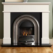 ivory marble fireplace with he jubilee