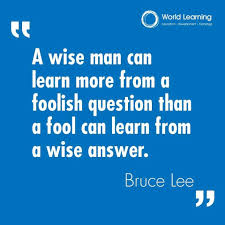 never stop asking questions ⃣ quote world learning