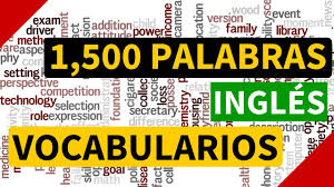 1500 palabras más usadas en inglés