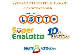 Estrazione Lotto, SuperEnalotto e 10eLotto giovedì 14 marzo 2019