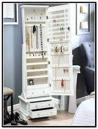 floor mirror with jewelry storage