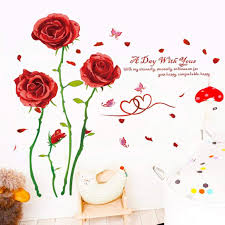 Cheap Red Rose Wall Decal Find Red Rose Wall Decal Deals On Line At Alibaba Com