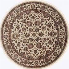beige round 5 to 6 ft wool carpet