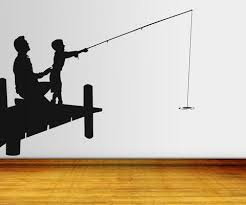 Vinyl Wall Decal Sticker Father And Son Fishing Os Aa710 Stickerbrand