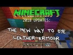 how to dye leather armor in minecraft