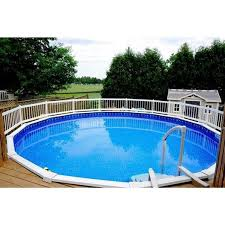 24 Resin Above Ground Pool Fence Base Kit A 8 Sections