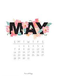may 2018 desktop calendar wallpaper