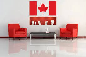 Canadian Flag Wall Decal Living Room Decoration Patriotic Maple Leaf Wall Stickers Vinyl Art Mural Waterproof Art Mural Syy515 Wall Sticker Leaf Wall Stickerwall Decals Aliexpress