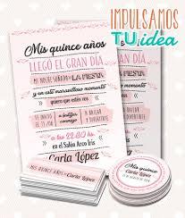 Tarjeta De 15 Para Imprimir Invitacion Y Personal Luciana