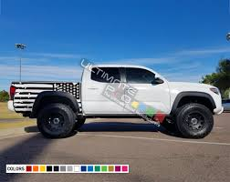 American Flag Decal Sticker Vinyl Bed Destorder Us Flag Kit Compatible With Toyota Tacoma 2004 2017 Ultimateprocy