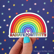 Radiate Positivity Vinyl Decal Sticker For Laptop Car Phone Water Bottle Pride Ebay